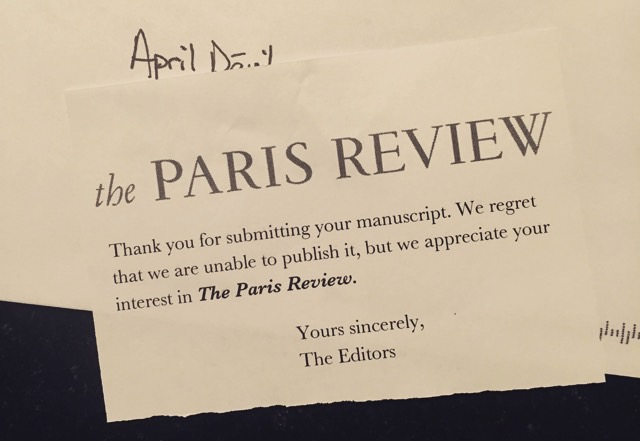 Paris Review good rejection