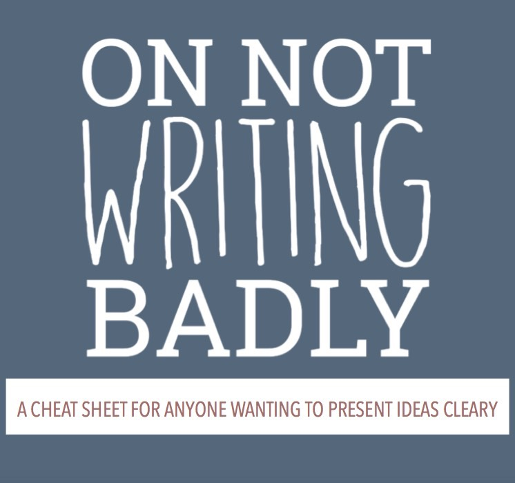 On Not Writing Badly