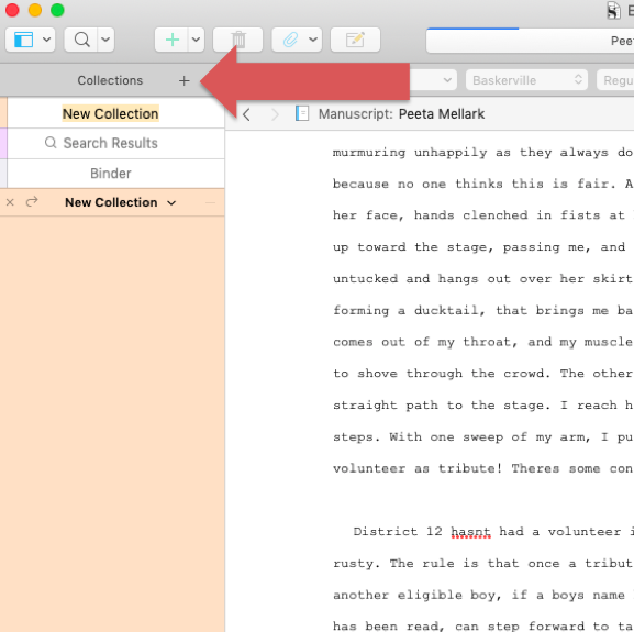 Scrivener Collections