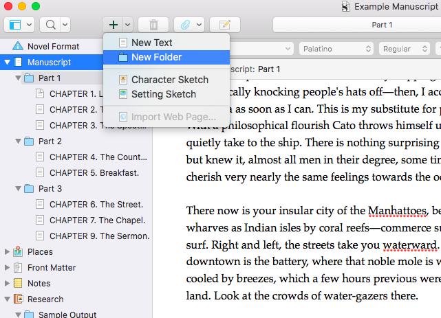 Scrivener Drafts
