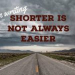 Novels Are Marathons, Short Stories Are Sprints