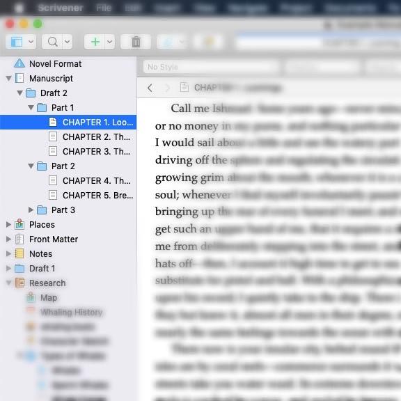 Changing Scrivener Binder Icons
