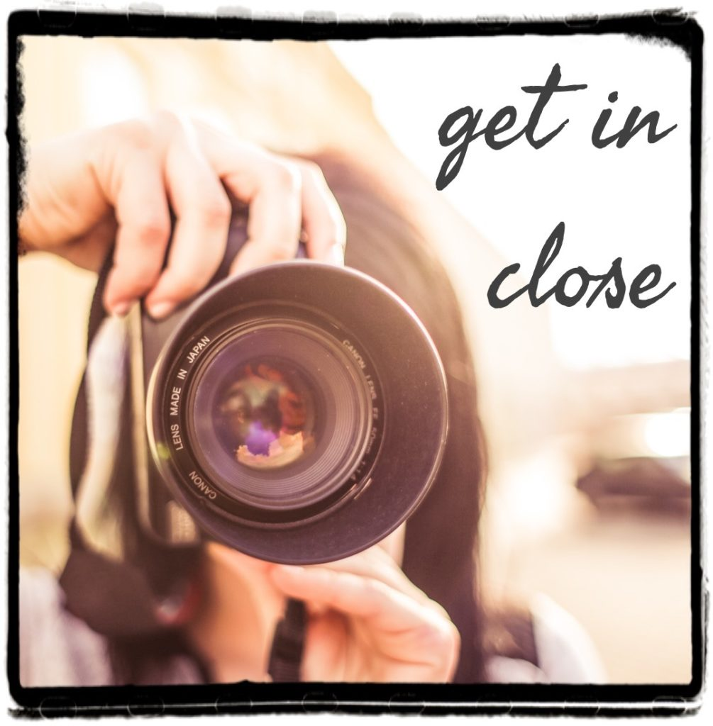 Use the present tense as a zoom lens in your writing.