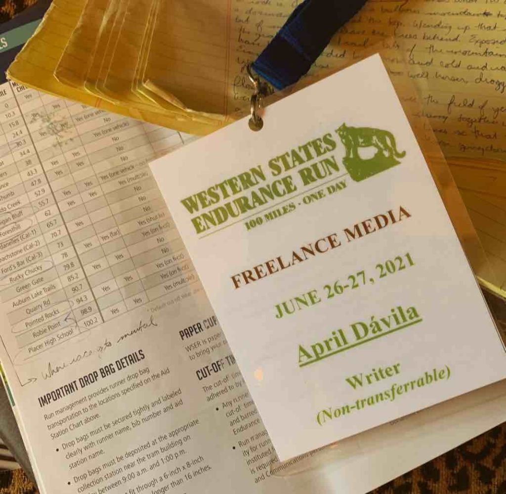 Western States Endurance Race Press Pass