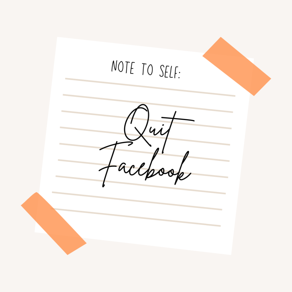 Quit Facebook (and all social media?)